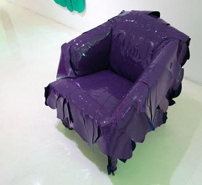 """Cadeira de couro liso """"Leatherworks""""... meio anti sustentável, mas vá lá"""