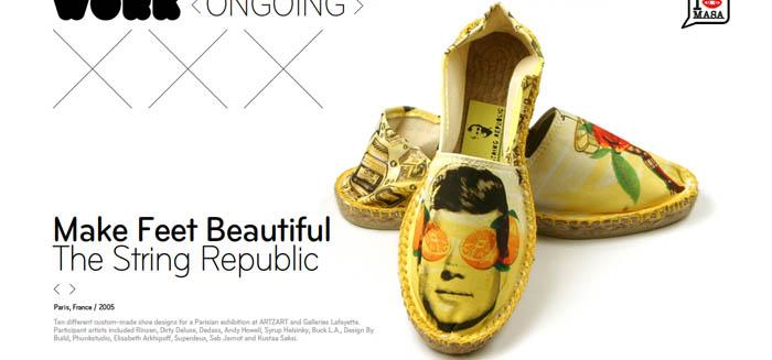 10 customizações para uma mostra em paris para a String Republic