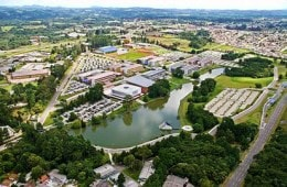 Oh que lindo o campus da Universidade Positivo!