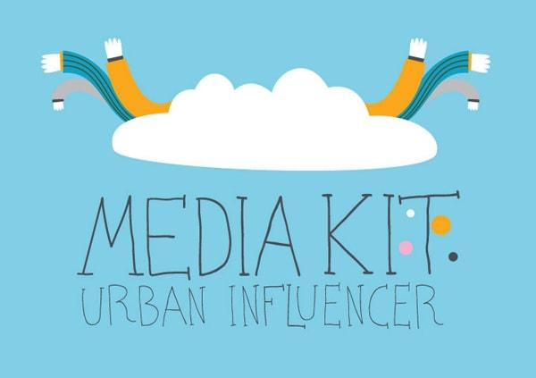 Midia kit para Urban Influencer, coletivo de Nova York