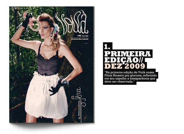 Identidade e projeto gráfico para a revista Voilá