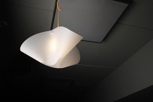 Luminária, resultado só com dobras