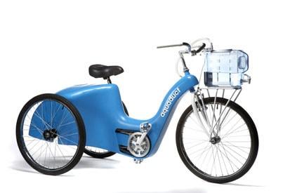 Aquadut – Bicicleta conceito da IDEO para armazenagem e filtragem de água para países em desenvolvimento.