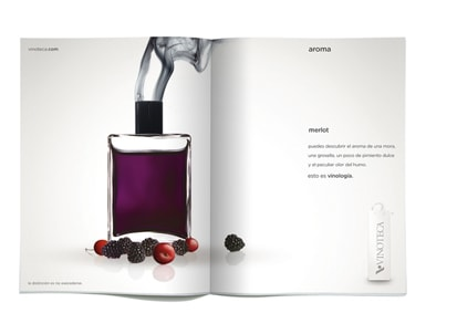 Campanha para a Vinoteca, uma butique de vinhos