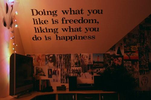 """""""Fazer o que você gosta é liberdade, gostar do que você faz é felicidade""""."""