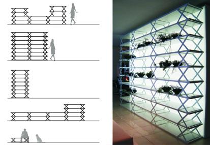 Sistema Clip (estantes, apoio, etc) Design: Jader Almeida design & architecture Jader Almeida Chapecó - SC, Brasil Empresa: modd Chapecó - SC, Brasil