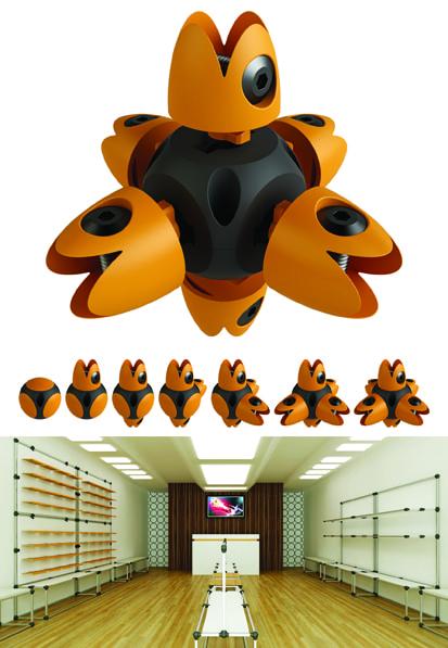 Vertex (acessórios de montagem) Design: dcD! Cristiano Gallina, Everton Visentini Bento Gonçalves - RS, Brasil Empresa: Akeo Bento Gonçalves - RS, Brasil