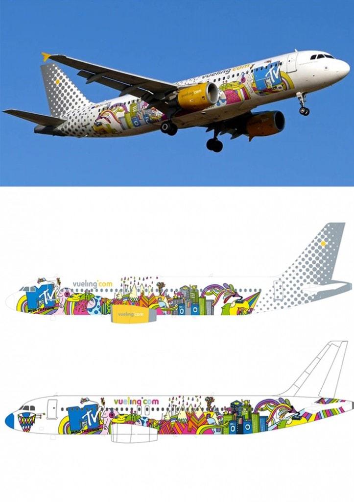 Airbus A -320, para a MTV