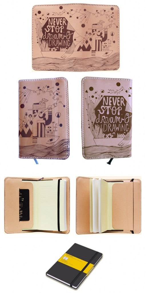 Moleskine para Engrave your Books