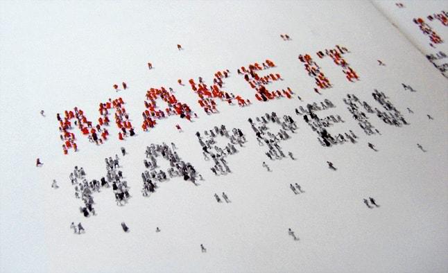 Eles fizeram o logo e materiais impressos para a campanha, que pretende acabar com a pobreza até 2015