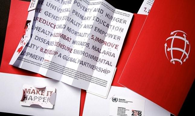 Catálogo para capanha das Nações Unidas contra a pobreza