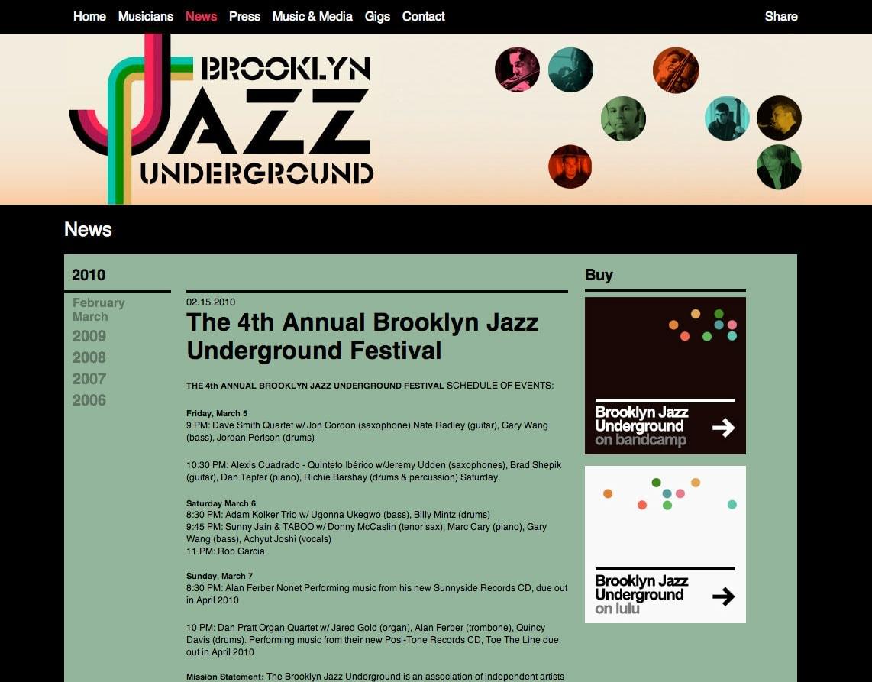 Branding para o Festival de Jazz no Brooklyn