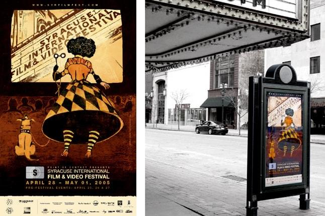 Identidade para o festival de cinema e vídeo de Syracuse