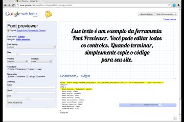 Font Preview - Google Web Fonts