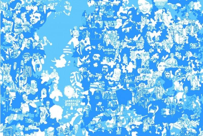 Cartaz Pedro Inoue. Popcorn, 2007